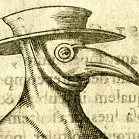 Illustrated character with glasses and a beak.