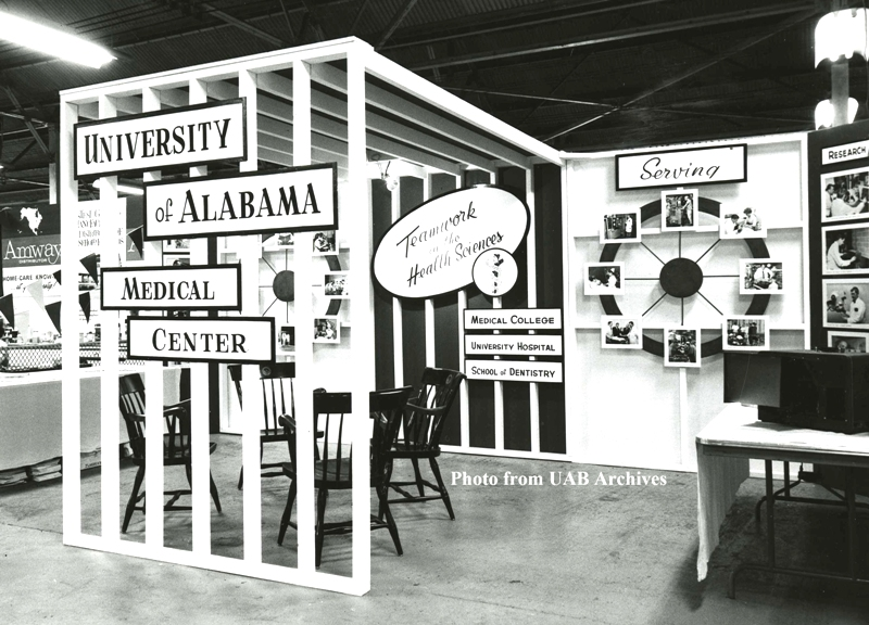 Medical center booth at the Alabama State Fair in 1965