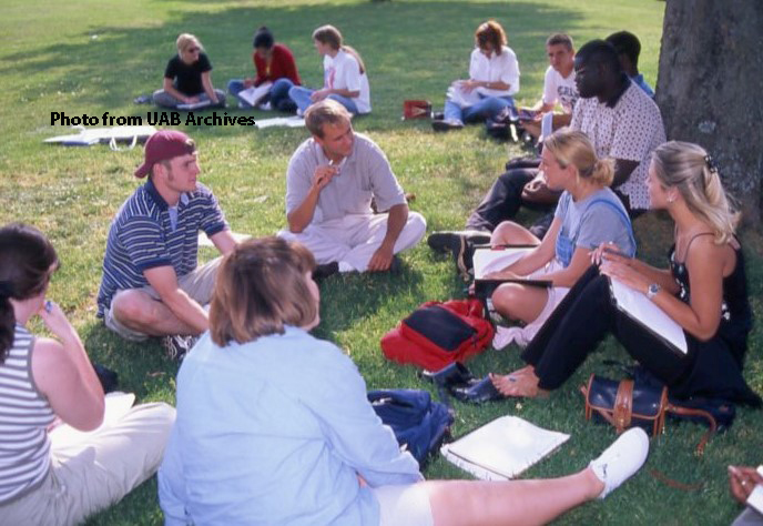 Students on the UAB campus