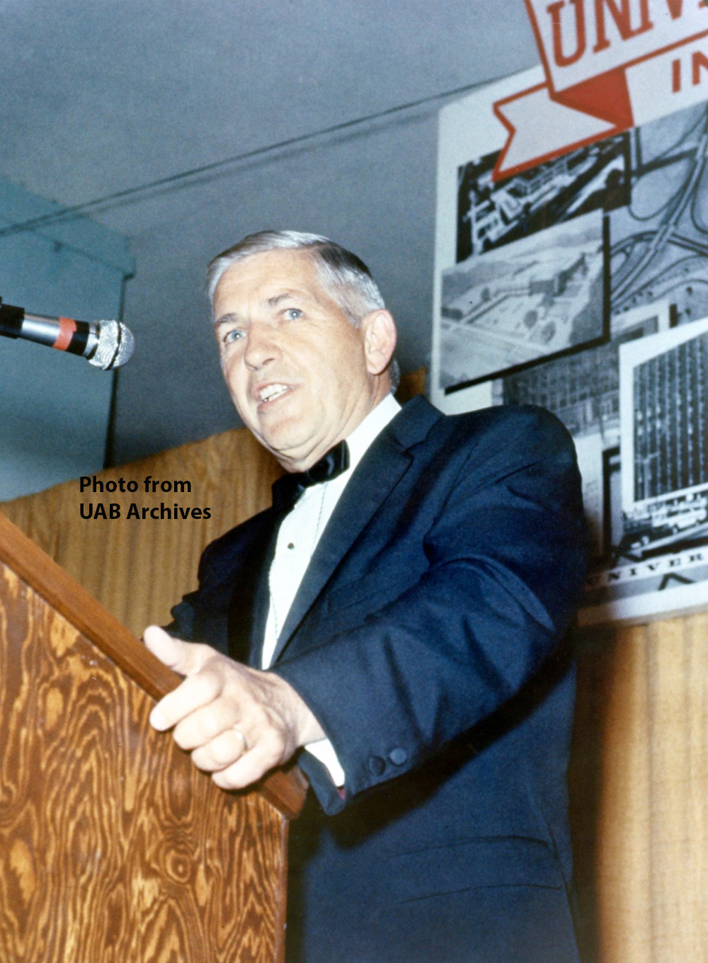 Volker speaks at testimonial dinner, September 5, 1969