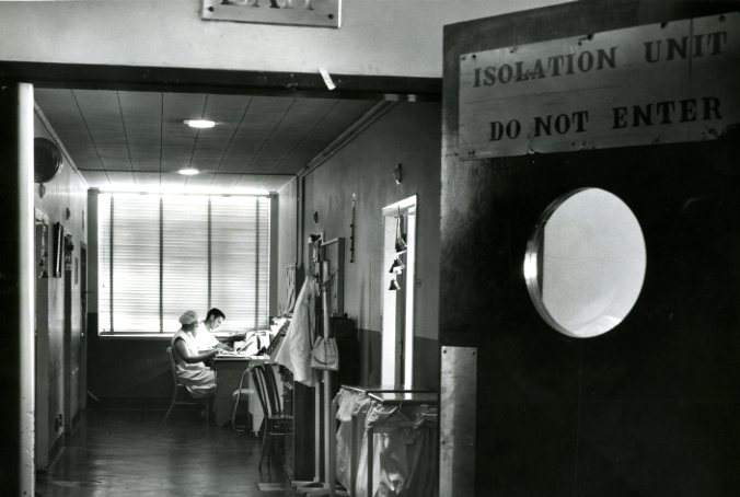 University Hospital's Isolation Unit, 1960