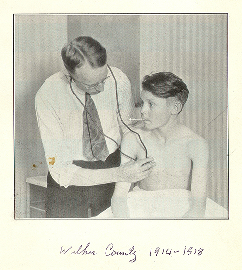 Dr. Grote with a patient